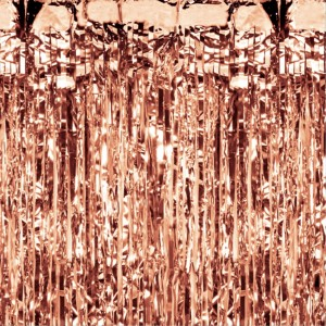 KURTYNA METALIZOWANA ROSE GOLD 100X200 CM