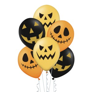 BALONY NA HALLOWEEN MIX 6 SZT.